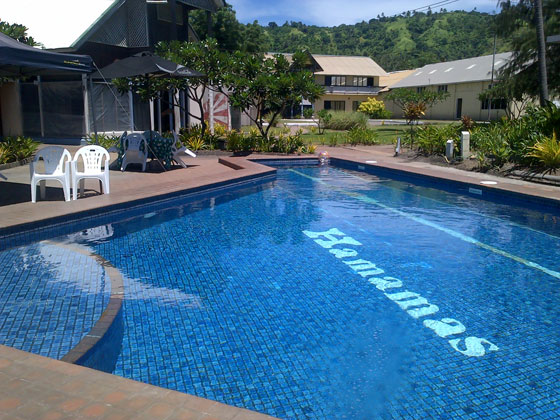 Rabaul Hotel swimming pool
